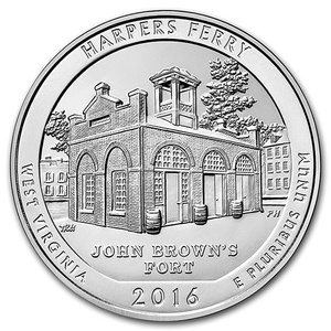 Compare silver prices of 2016 Silver 5oz. Harpers Ferry ATB
